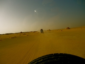 Speeding through the desert. Photo by author.