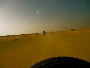 Speeding through the desert. Photo by author.