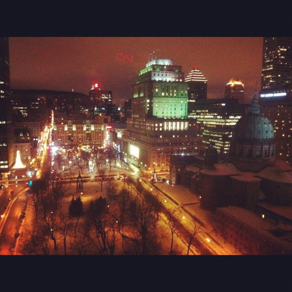 Downtown Montreal at night