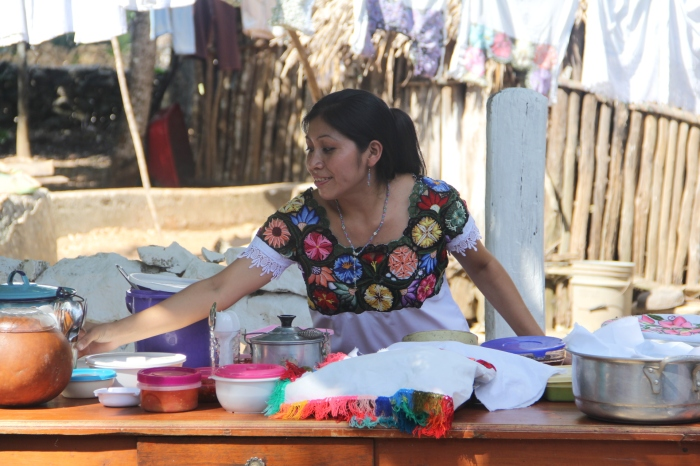 Lunch at a Mayan village