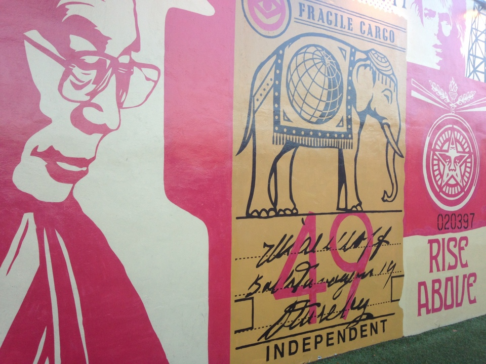 Shepard Fairey in Miami. June 2014.