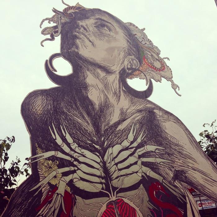 Swoon in Manhattan. September 2014.