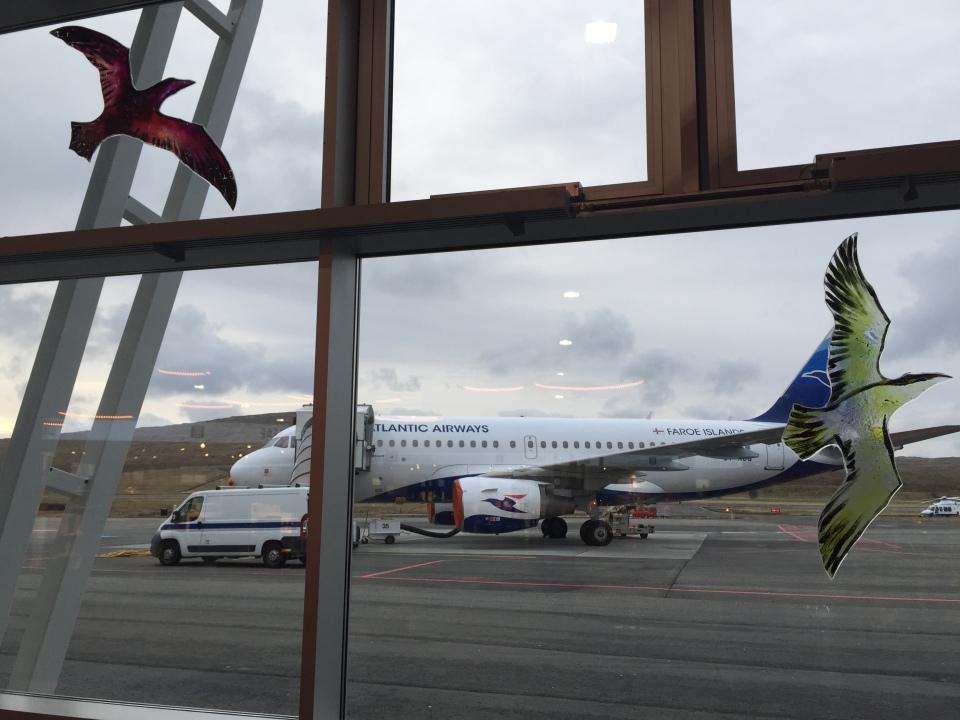 Tróndur Patursson at Vagar Airport